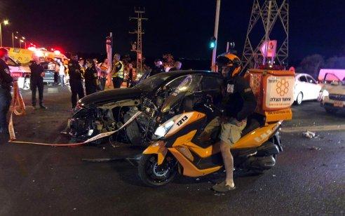 בן 20 נפצע בינוני במהלך מרדף אחרי גנב רכב סמוך לצומתהשרון