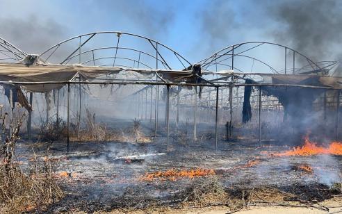 טרור הבלונים: 4 שריפות שפרצו בעוטף נגרמו מבלונים