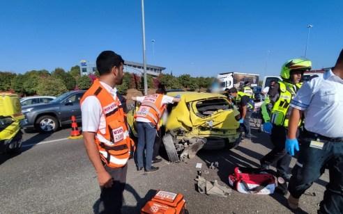 חמישה נפגעים בתאונה בכביש 6 סמוך למחלף נחשונים