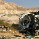 כביש 90: נהג משאית סולר נפצע בינוני כתוצאה מהתהפכות משאיתו סמוך לנווה זוהר