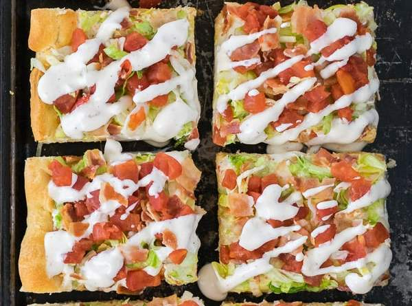 Chicken BLT Pizza