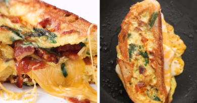 omelette grilled cheese