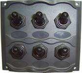 Панель брызгозащищённая с шестью переключателями