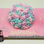 Pastel Flowers Smash Birthday Cake by All4Fun Cakes LLC