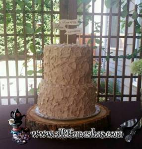 Snickerdoodle Wedding Cake by All4Fun Cakes (Toppers provided by Bride)