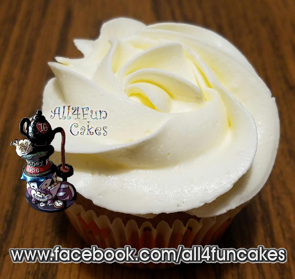 Sugar Free Pumpkin Pie Cheesecake Cupcake by All4Fun Cakes