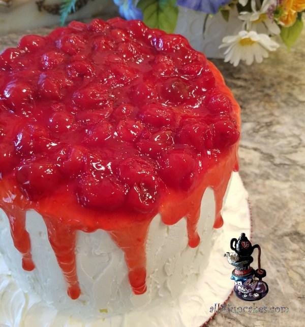 Isn't It Lovely - Cherry Chip Cheesecake Dessert Cake by All4Fun Cakes