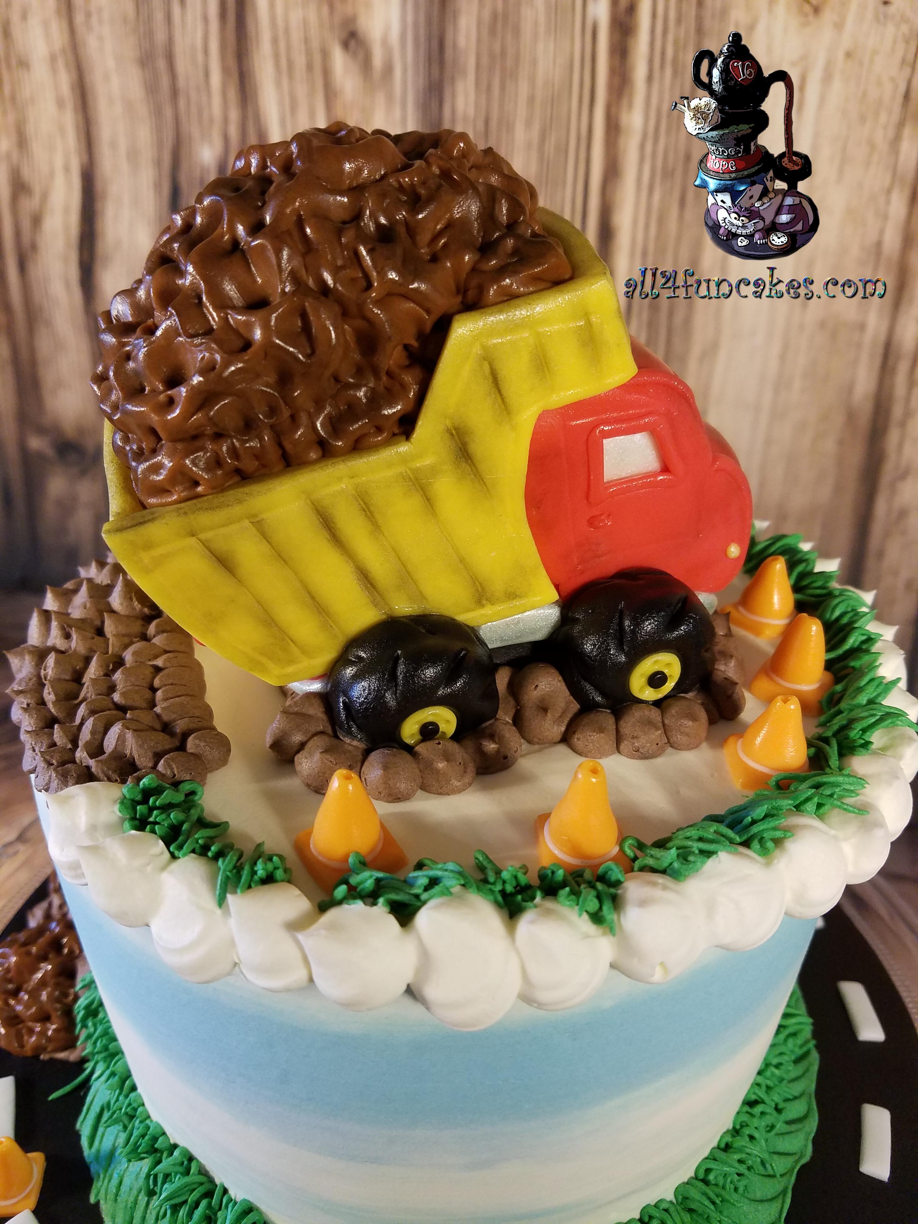 Phenomenal Dump Truck Construction Birthday Cake By All4Fun Cakes 07 Funny Birthday Cards Online Fluifree Goldxyz