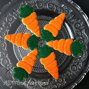 Easy Easter Carrot Carrots Decorated Sugar Cookies by All4Fun Cakes LLC 2018