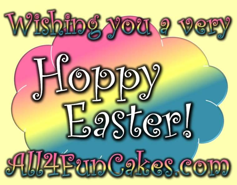 Wishing you a very Happy Hoppy Easter - Decorated Sugar Cookies by All4Fun Cakes LLC 2018