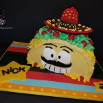 Mr Taco Loco Sculpted Smash Birthday Cake by All4Fun Cakes LLC 2017