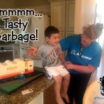Sculpted Cartoon Garbage Truck Birthday Cake by All4Fun Cakes LLC 2017