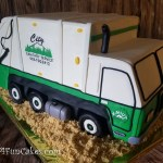 Sculpted Garbage Truck Retirement Cake by All4Fun Cakes LLC 2018