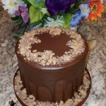 Birthday Anniversary Party Sinful Decadence Chocolate Dessert Cake with Dark Chocolate Ganache and Toffee by All4Fun Cakes LLC 2017