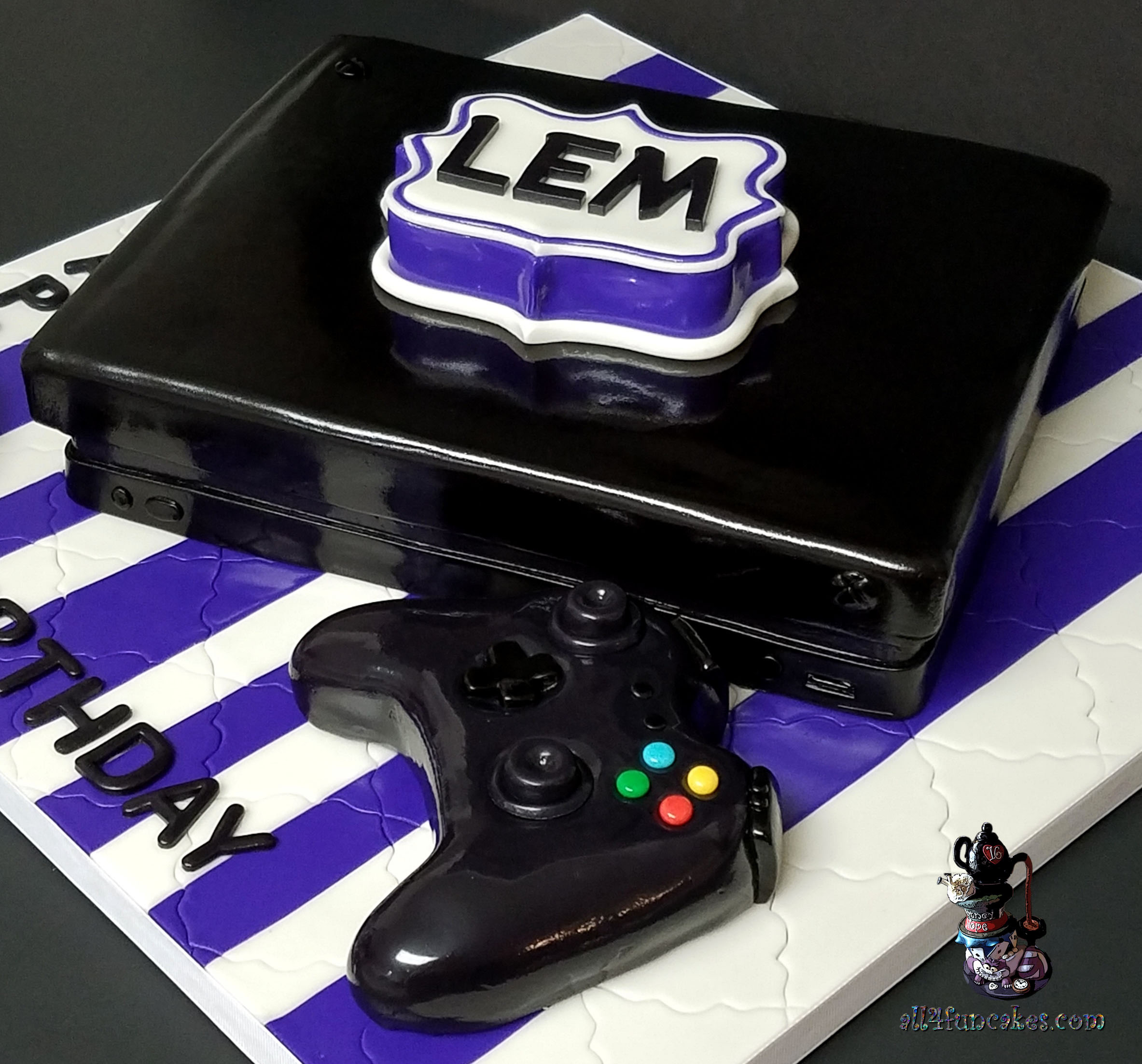 Xbox Game Console And Controller Chocolate 40th Birthday Cake By All4Fun Cakes 03