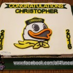 Oregon Ducks College Graduation Sheet Cake by All4Fun Cakes LLC 2016 - Single Use License Granted by University of Oregon