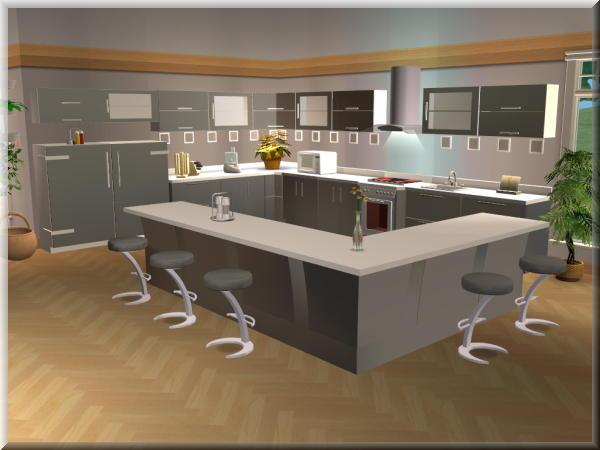 Sims 4 Kueche | Ungg999\'s Schwarz Weiß Küche | Sims