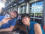 New Belgium brewery in Asheville with Scott and Adrianne.