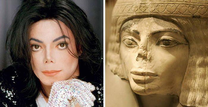 παρόμοια πράγματα Michael Jackson Looks Like This Egyptian Statue
