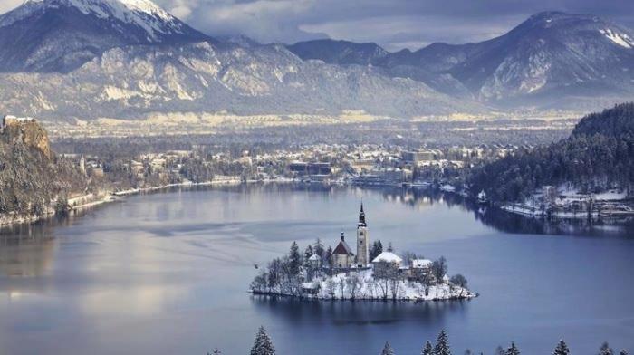 γραφικές χειμερινές πόλεις του κόσμου Bled, Slovenia