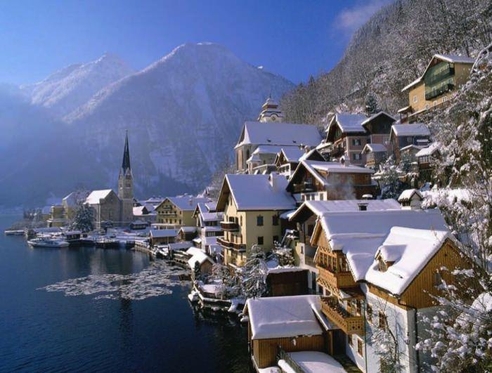 γραφικές χειμερινές πόλεις του κόσμου Hallstatt, Austria