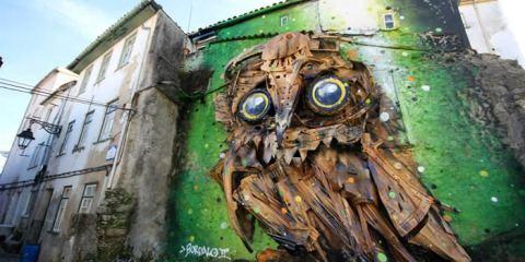 κουκουβάγια από σκουπίδια allabout.gr