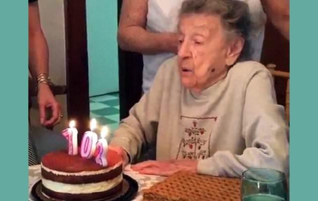 Το ξεκαρδιστικό ατύχημα μιας γλυκιάς γιαγιάς 102 ετών
