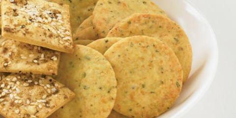 Μπισκότα με παρμεζάνα και δενδρολίβανο