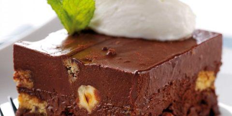 Κέικ ψυγείου με σοκολάτα & Tia Maria