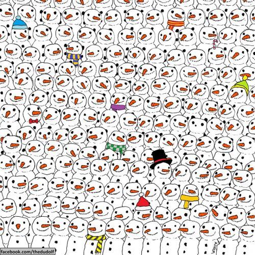 Mπορείτε να βρείτε το πάντα ανάμεσα στους χιονάνθρωπους;