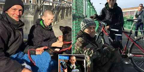 Hamish James, με το χαρτζιλίκι του, ταΐζει τους άστεγους