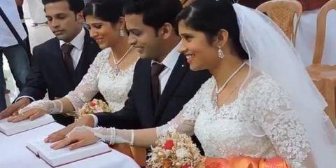 Δυο δίδυμα αδέρφια παντρεύτηκαν δυο δίδυμες αδερφές