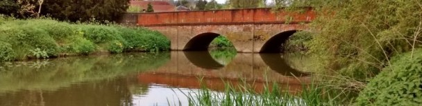 A view of Betchworth Bridge on the River Mole in Surrey