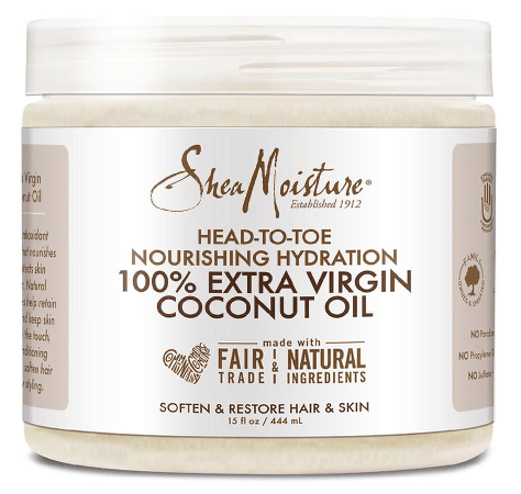 Coconut oil is perfect for moisturizing the body from head to toe.