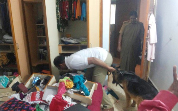 Police at house of Chingale in Belagavi