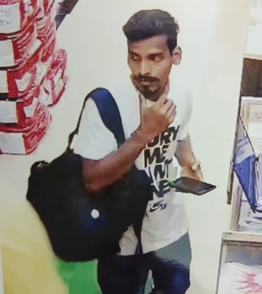 CCTV capture of the accused