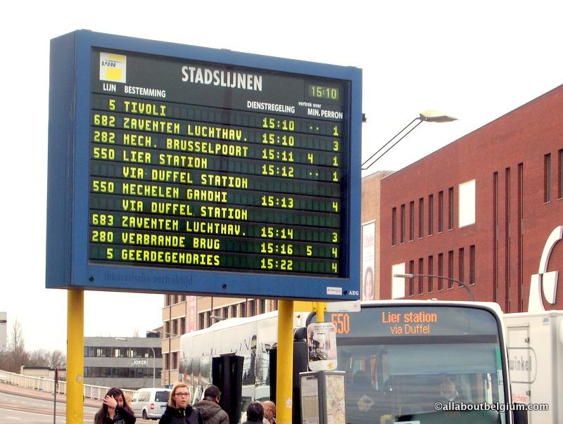 ベルギーのバス(De Lijn)の乗り方