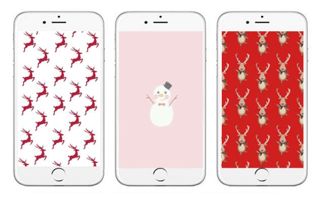 c4afd 4wal - 15x de allerleukste kerst achtergronden voor je mobiel.
