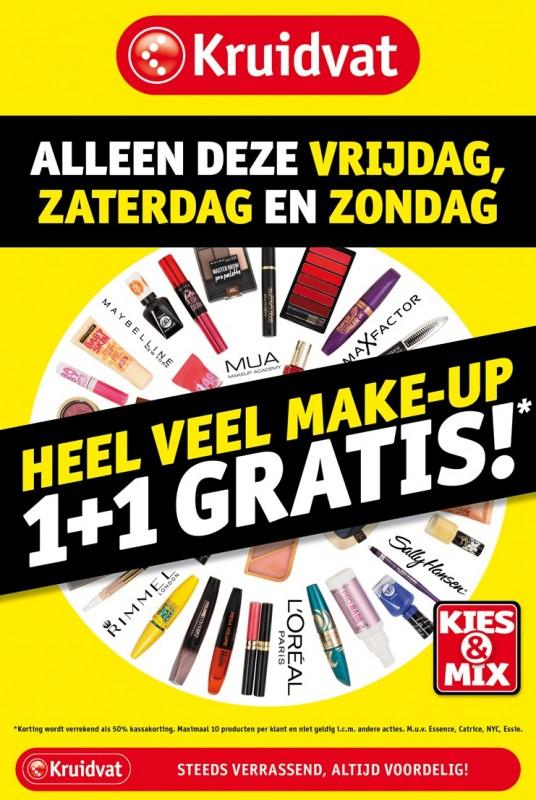 fbf68 makeupsalealert - MAKEUP SALE ALERT! Make-up van diverse merken 1+1 gratis - Kruidvat