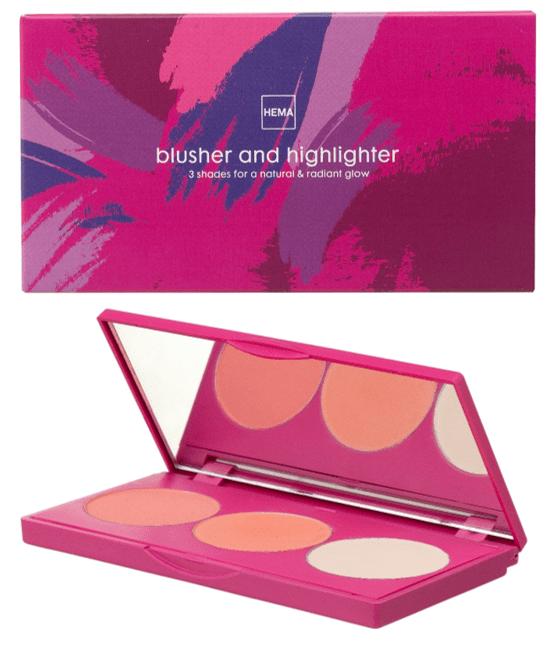 blush en highlight palette - HEMA LANCEERT NOG MEER NIEUWE BEAUTY PRODUCTEN!