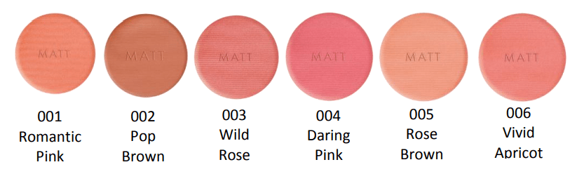 EXTREME BLUSH MATT - PREVIEW │PUPA MILANO EXTREME BLUSH COLLECTIE