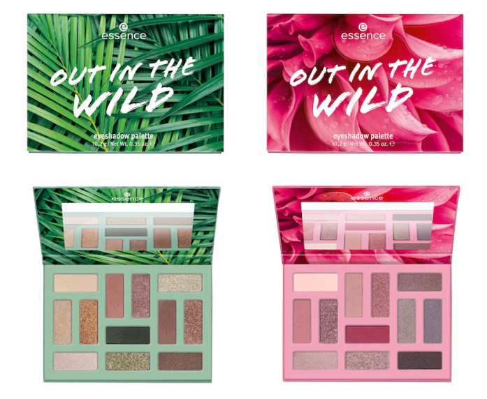 OUT IN THE WILD EYESHADOW PALETTES - ESSENCE UPDATE LENTE/ZOMER 2021