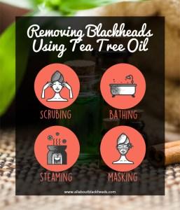 Removing Blackheads Using Tea Tree Oil
