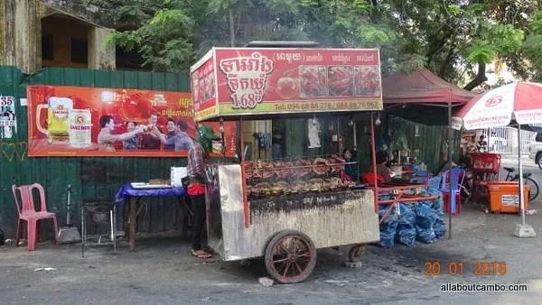 жареные куры в камбодже