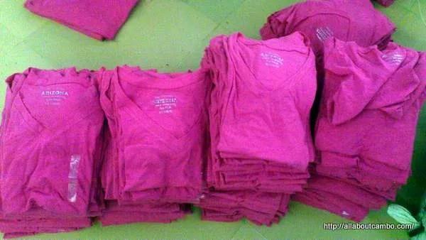 стоки брендовой одежды в Камбодже