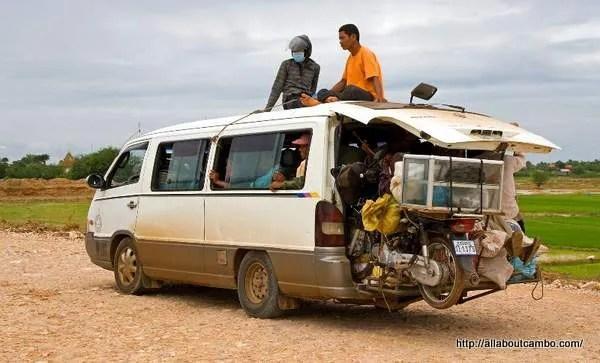 передвижение в Камбодже по дорогам