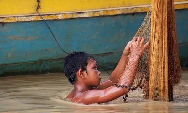Экскурсия в рыбацкую деревню в Камбодже