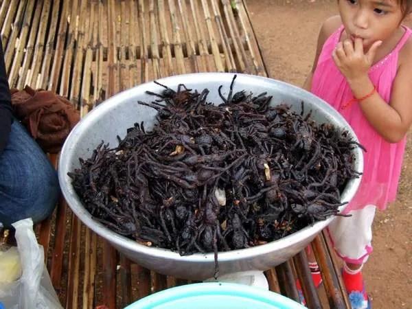 экзотическая еда в камбодже
