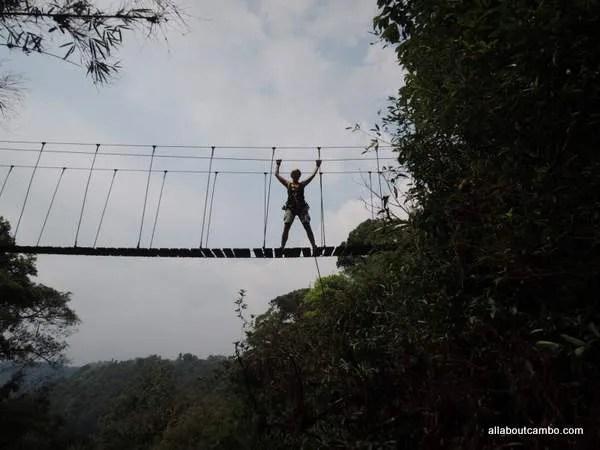 подвесной мост лаос