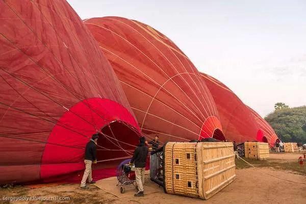 Бирма, полет на воздушном шаре